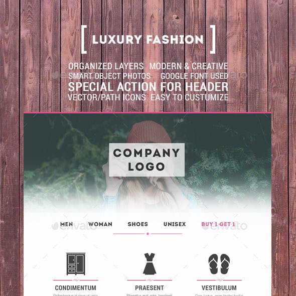 Luxury Fashion Email Template