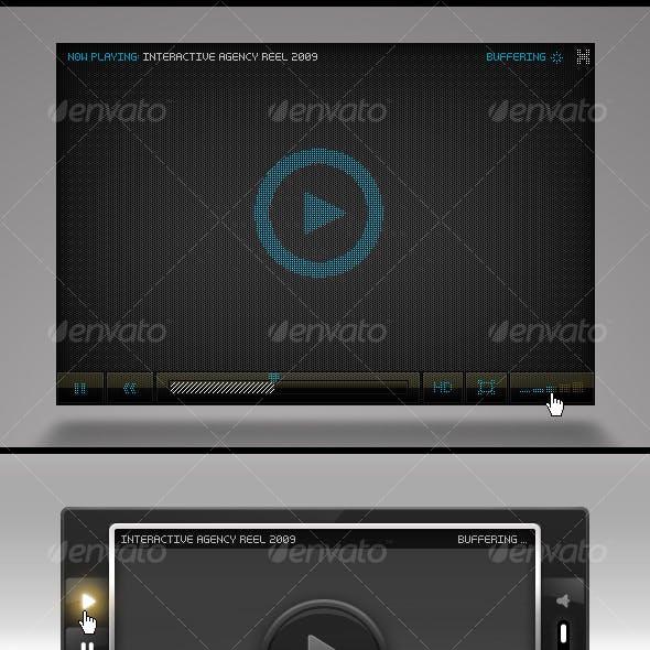 3 Hi-Tech FLV Players w/ Pixel-Based Details
