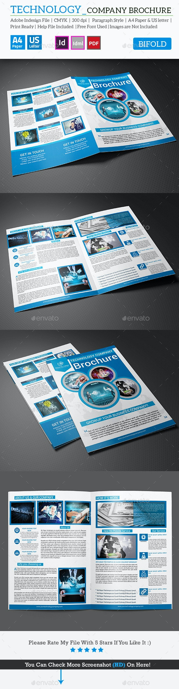 Technology Company Bifold Brochure - Corporate Brochures