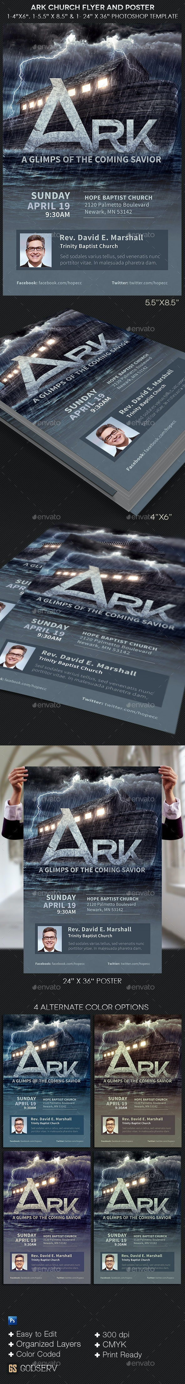 Ark Church Flyer Poster Template - Church Flyers