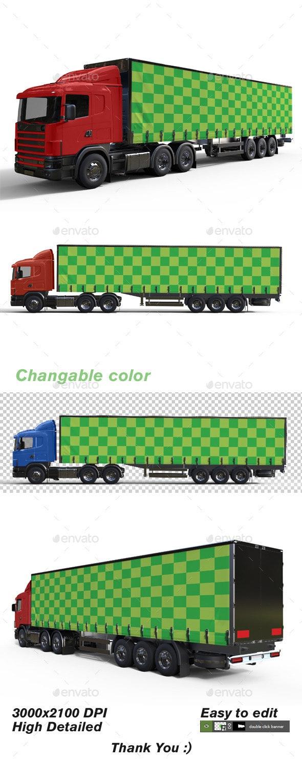 Truck Mock up - Product Mock-Ups Graphics