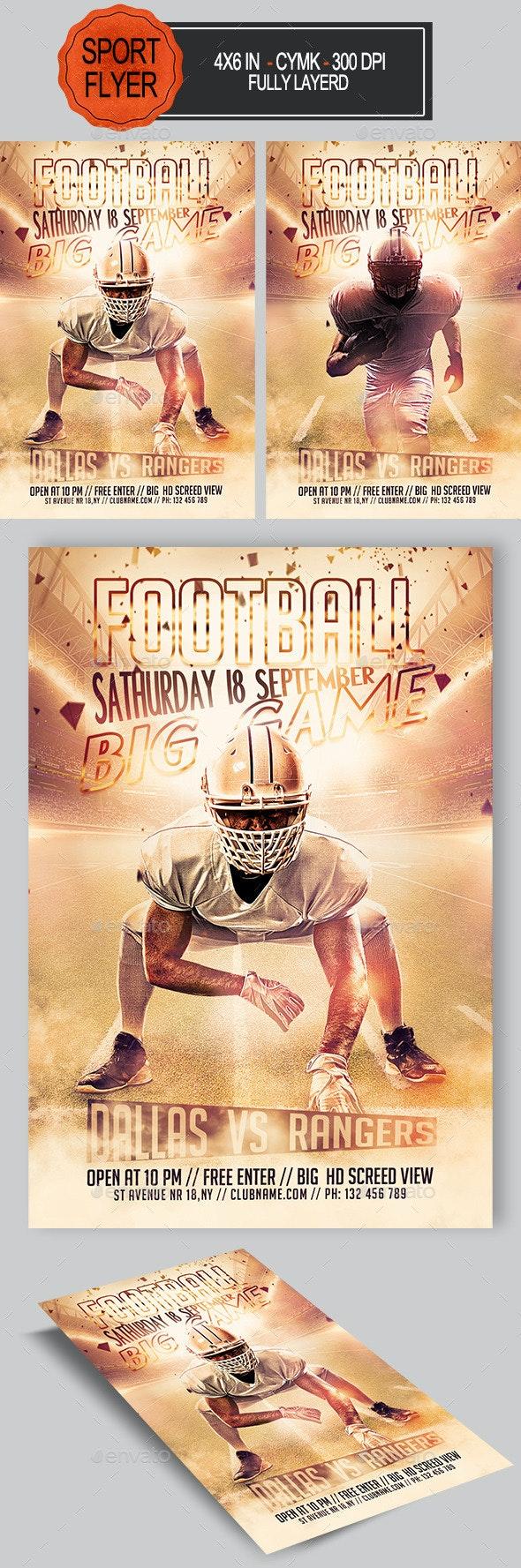 Football Flyer - Sports Events