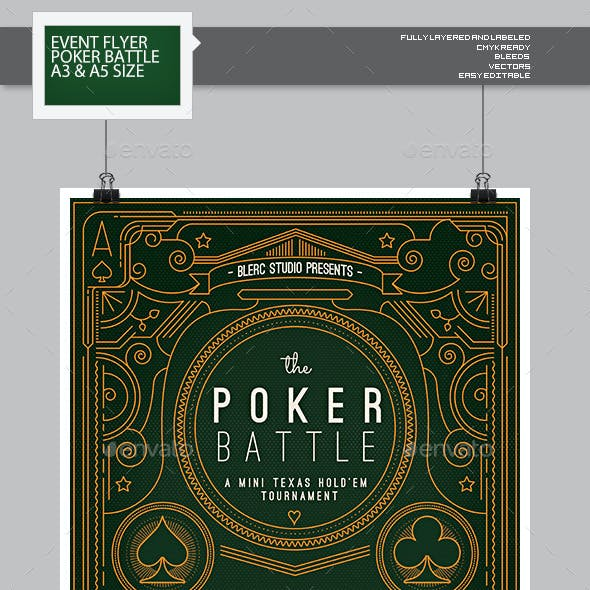 Flyer - Poster: The Poker Battle