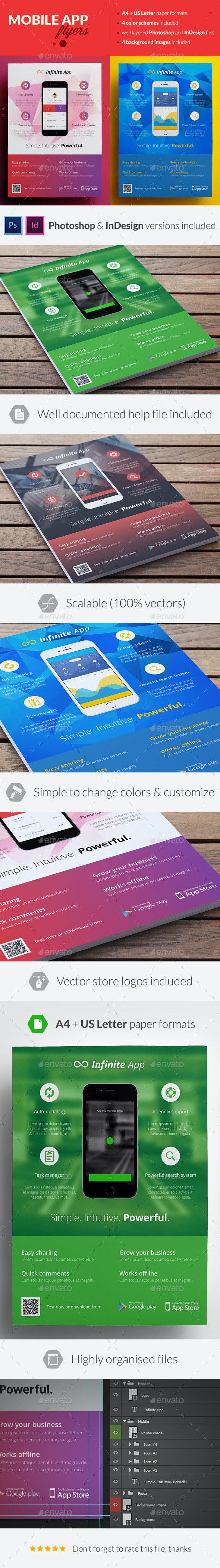 Mobile Application Promotion Flyers / Phone App 7 - Commerce Flyers