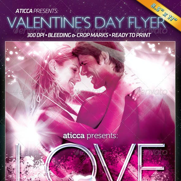 Love - Valentine's Flyer/Poster Template