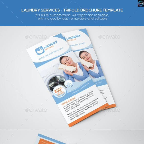 Laundry Services - Trifold Brochure Template