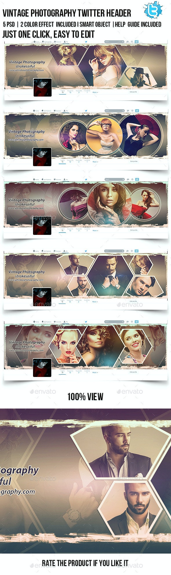 Vintage Photography Twitter Cover - Twitter Social Media