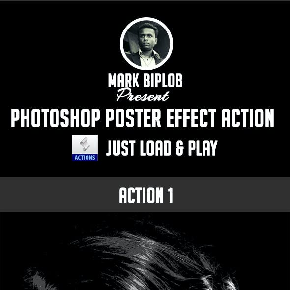 Photoshop Poster Effect Action