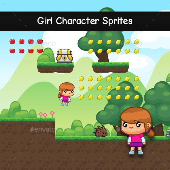 Girl Character Sprites