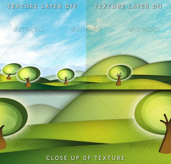 Digital Oxygen Landscape - Backgrounds Graphics