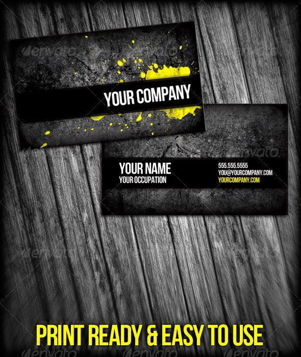 Professional Grunge Business Cards - Grunge Business Cards