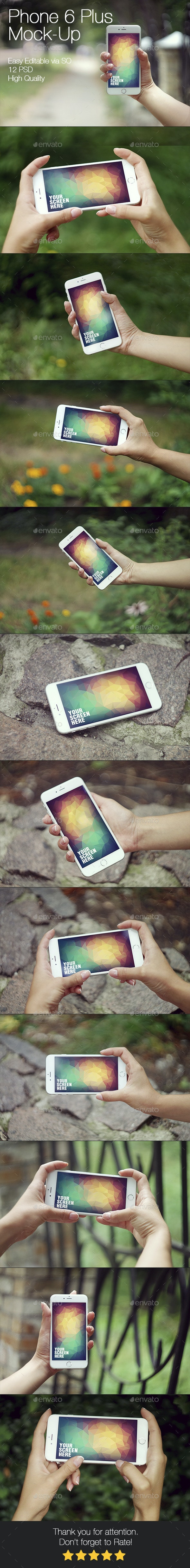 Phone 6 Plus Mockup - Mobile Displays