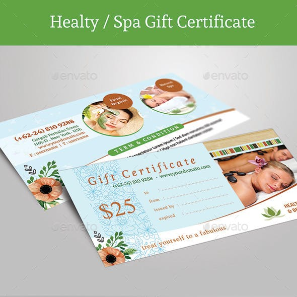 Healty Spa Gift Certificate