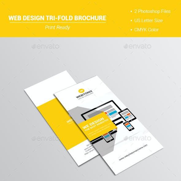 Web Design Tri-Fold Brochure V1