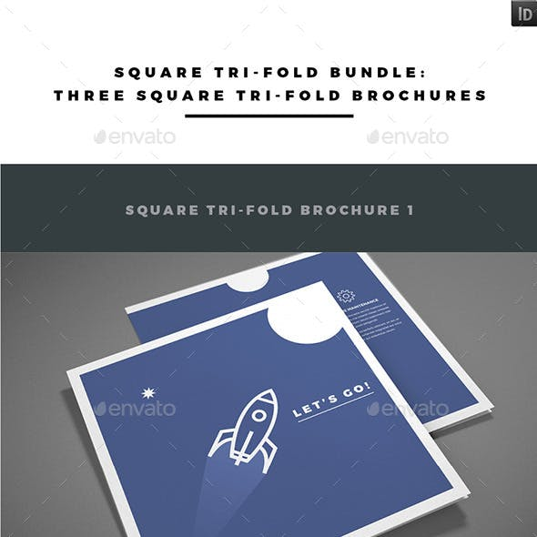 Square Tri-fold Brochure Bundle