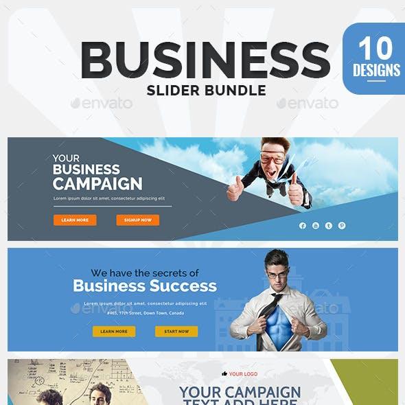 Business Sliders Bundle - 10 Designs