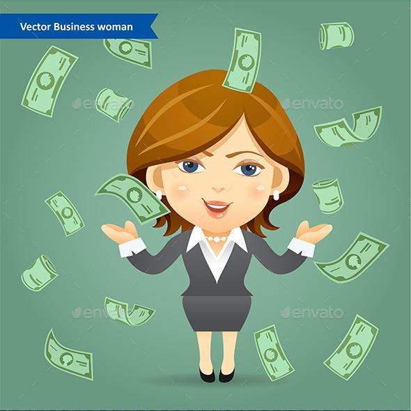 Success Business Woman Concept