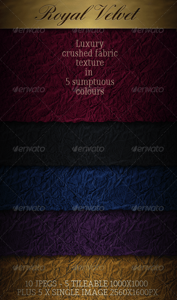 Velvet - Luxury Crushed Seamless Fabric - Backgrounds Graphics