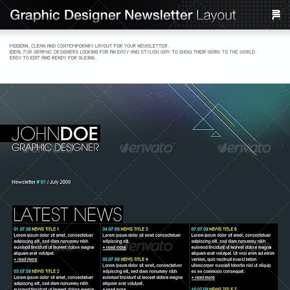 Graphic Designer Newsletter Layout