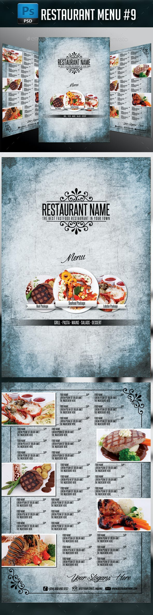 Restaurant Menu #9