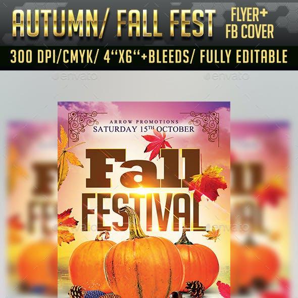Autumn/ Fall Festival Flyer + Facebook Cover