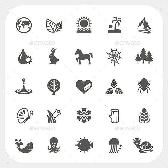 Nature Icons Set - Miscellaneous Vectors