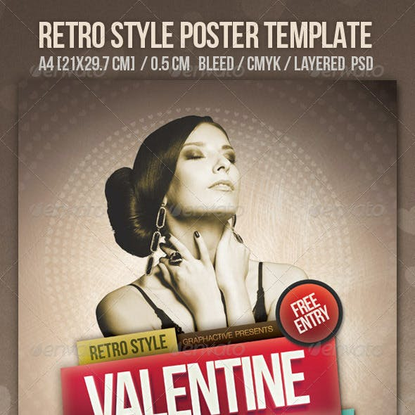 Vintage Style Poster Design Template