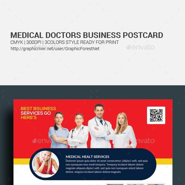 Medical Doctors Postcard Template