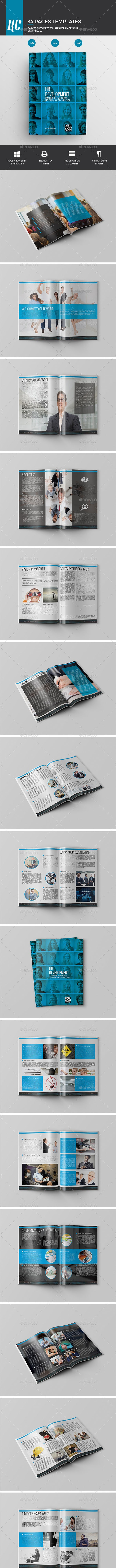 HR Development Book - Brochures Print Templates