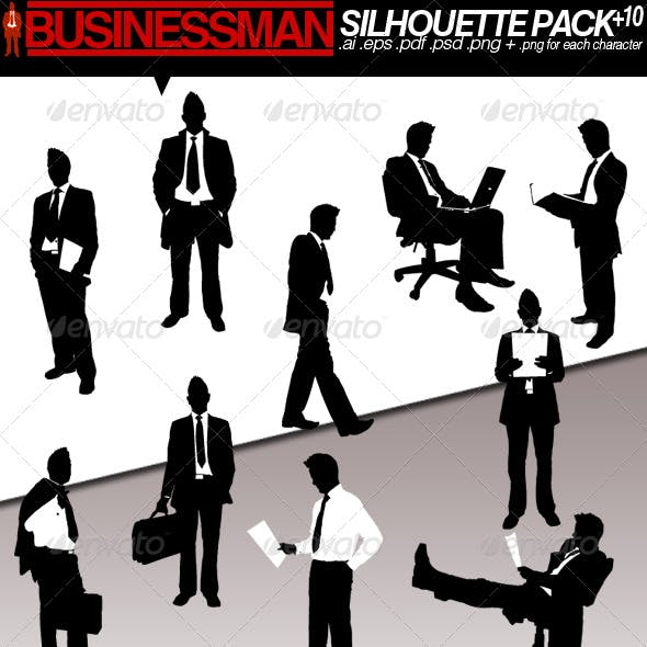 Businessman silhouette pack