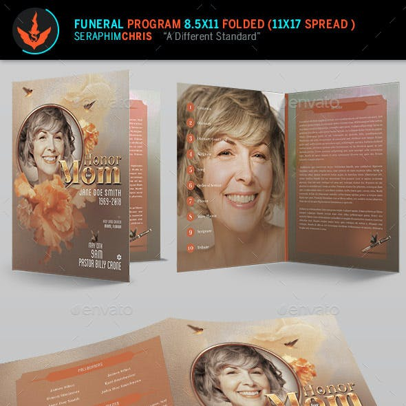 Honor Mom Funeral Program Template