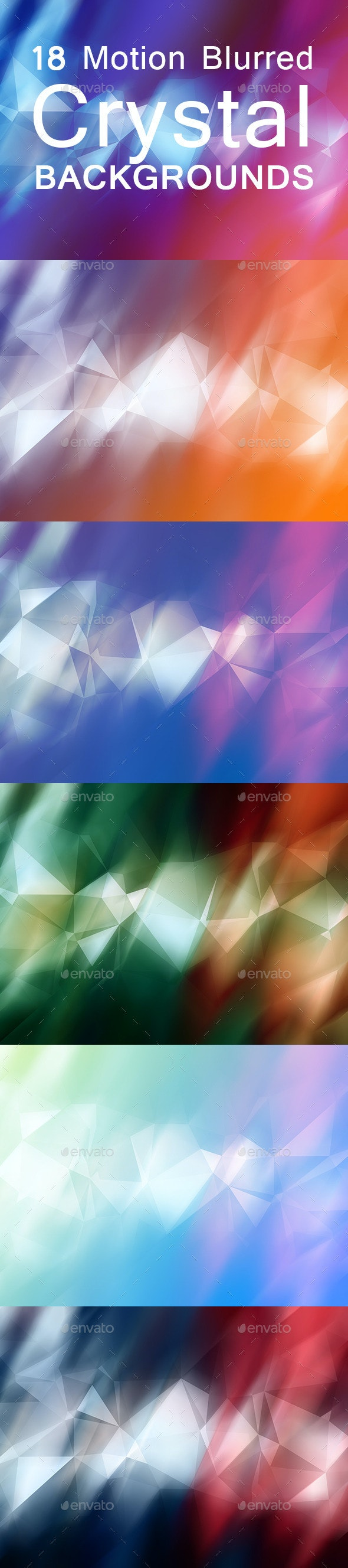 18 Motion Blurred Crystal  Backgrounds - Abstract Backgrounds