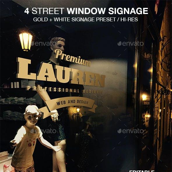 Street Window Signage Mockup