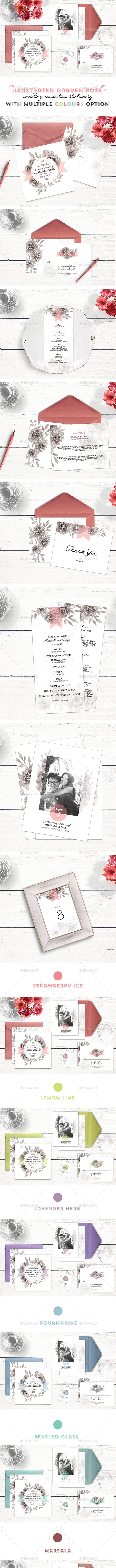 Wedding Invitation Stationery - Rose Garden - Weddings Cards & Invites