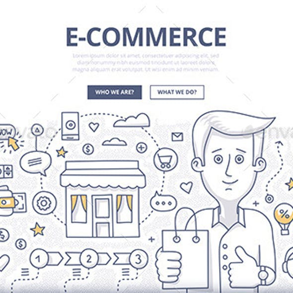 E-comerce Doodle Concept