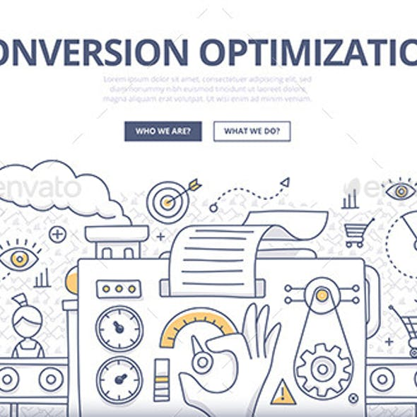 Conversion Optimization Doodle Concept