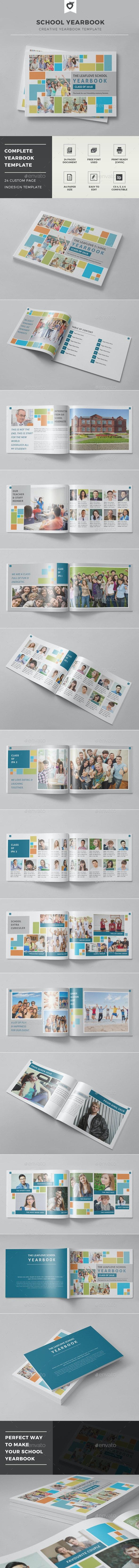 School Yearbook - Photo Albums Print Templates