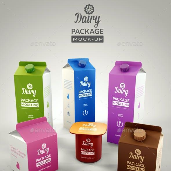 Dairy Branding Package Mock-up