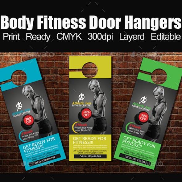 Body Fitness Door Hangers Template