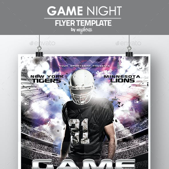 Game Night Football Flyer / Poster Template