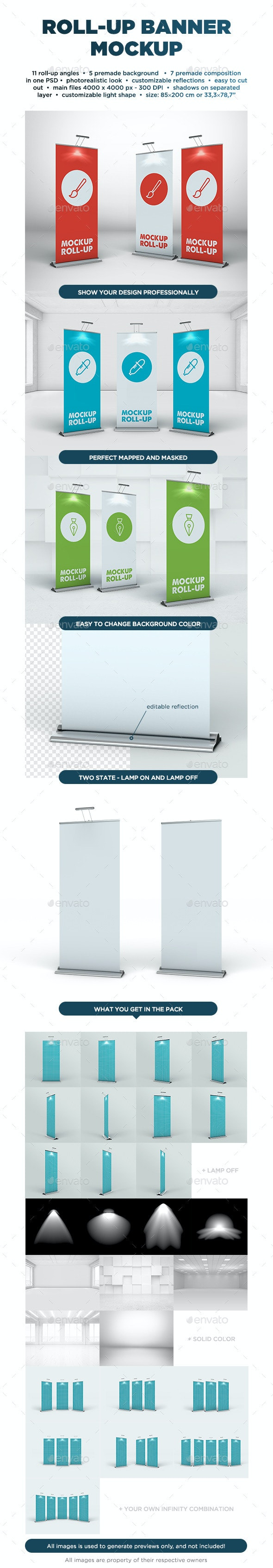Roll Up Banner Mockup - Signage Print