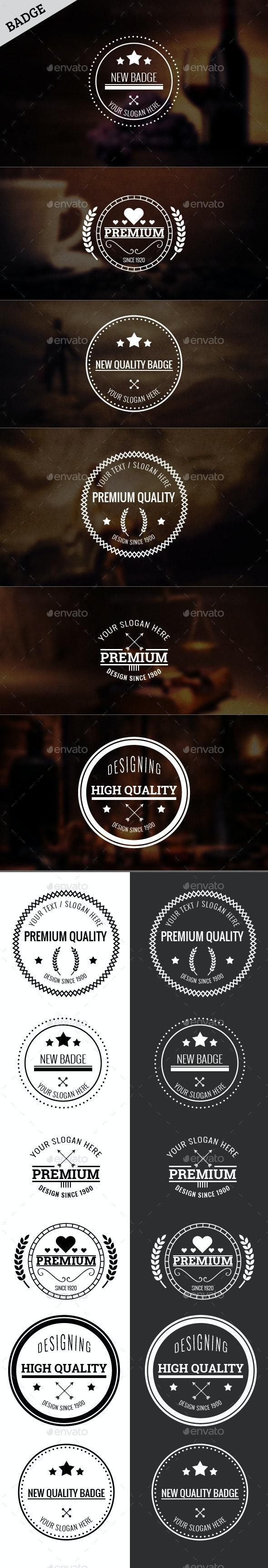 New Badges Vol. 4 - Badges & Stickers Web Elements
