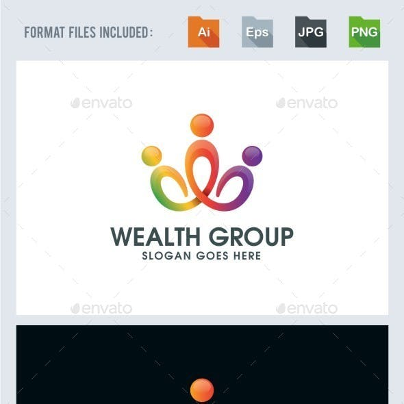 Wealth Group - Community Logo Template