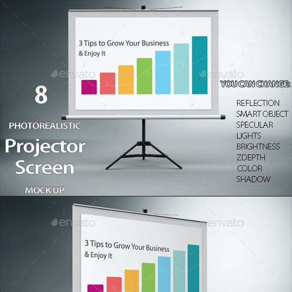 Projector Screen Mock Up