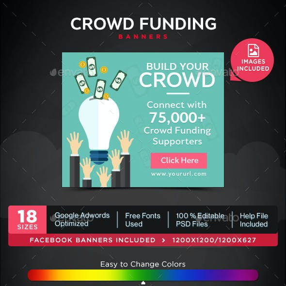 Crowd Funding Banners