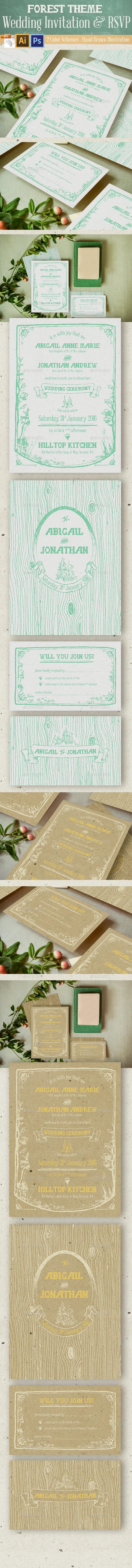 Forest Theme Wedding Invitation - Weddings Cards & Invites