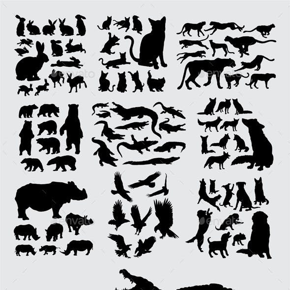 Pet and Wild Animal Silhouettes