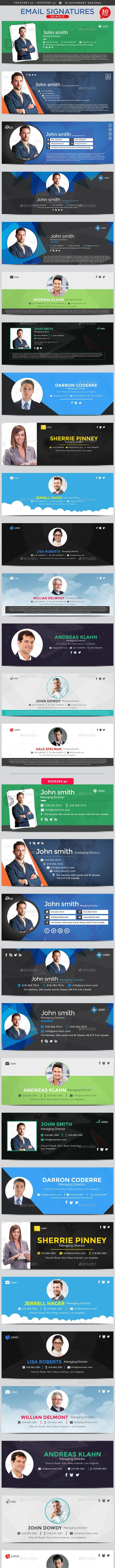 Email Signature Bundle - 15 Designs - 2 Sizes Each - Miscellaneous Web Elements