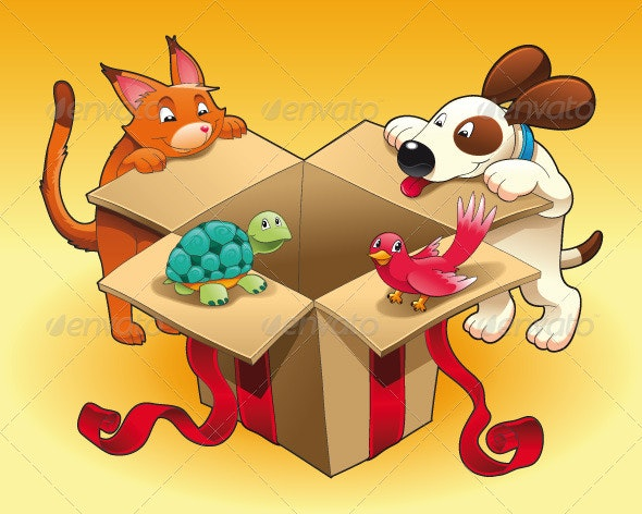 Gift and Pets - Animals Characters