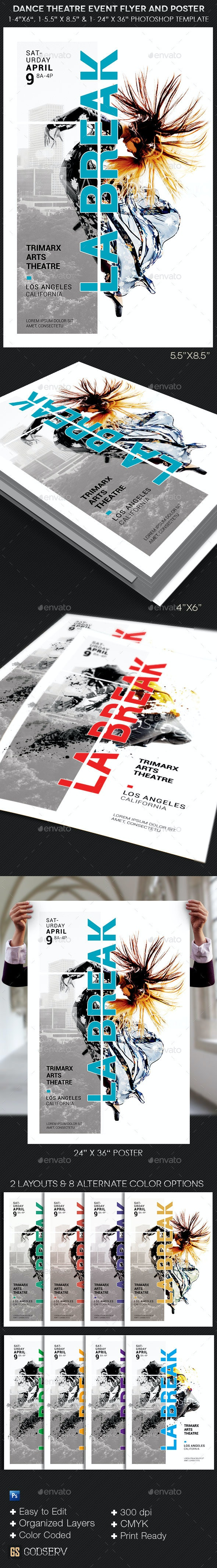 Dance Theater Flyer Poster Template - Concerts Events